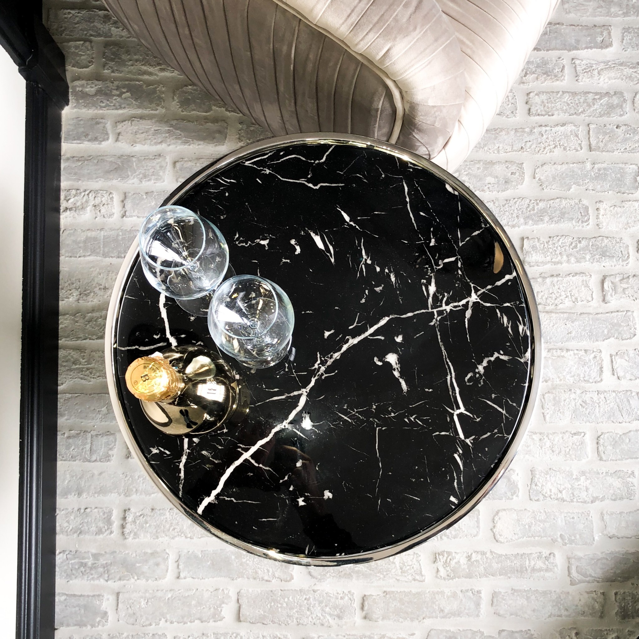 Design Side Table Lunda Black Marble-2