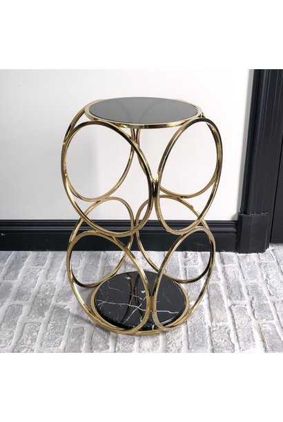 Design Side Table Hutton Gold