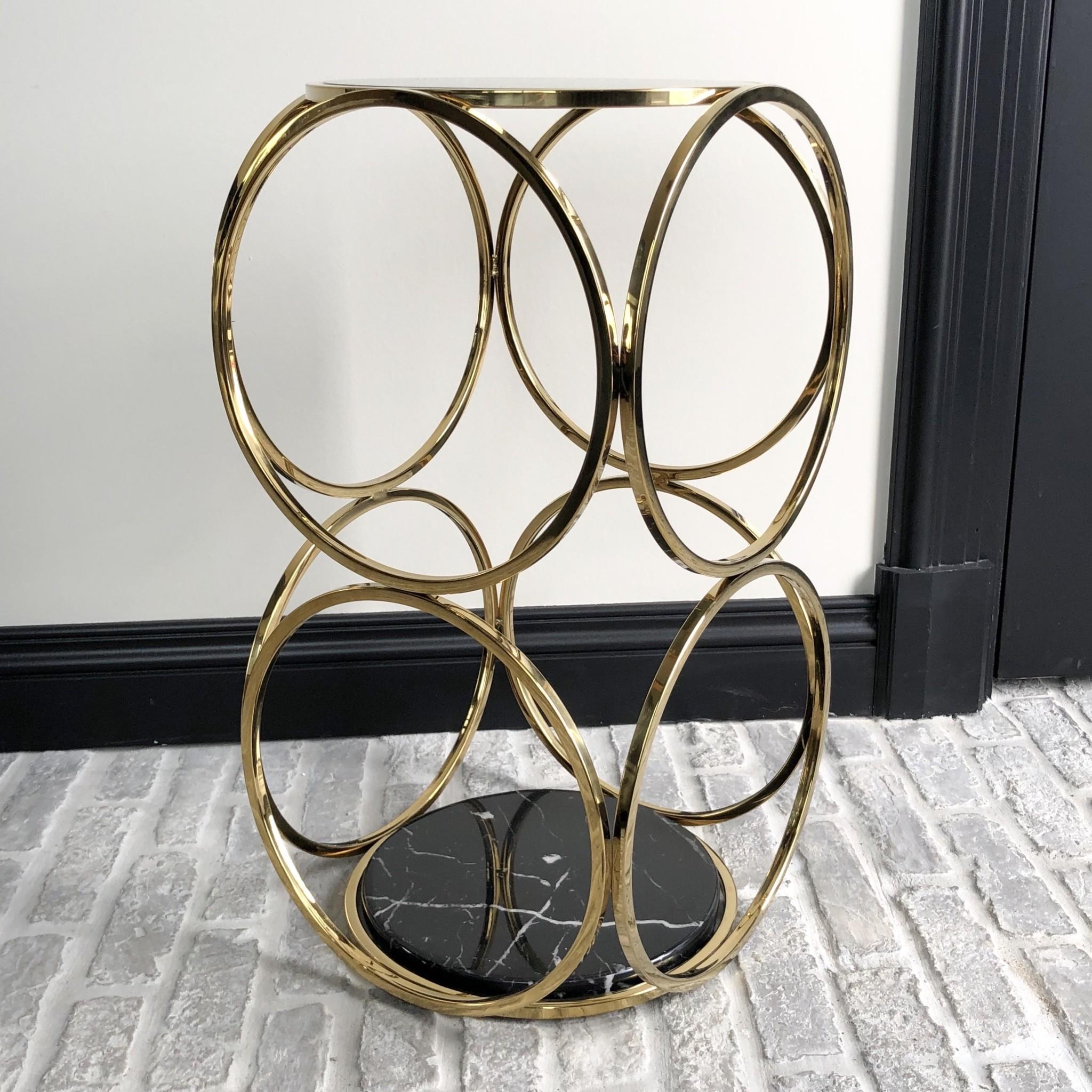 Design Side Table Hutton Gold-4