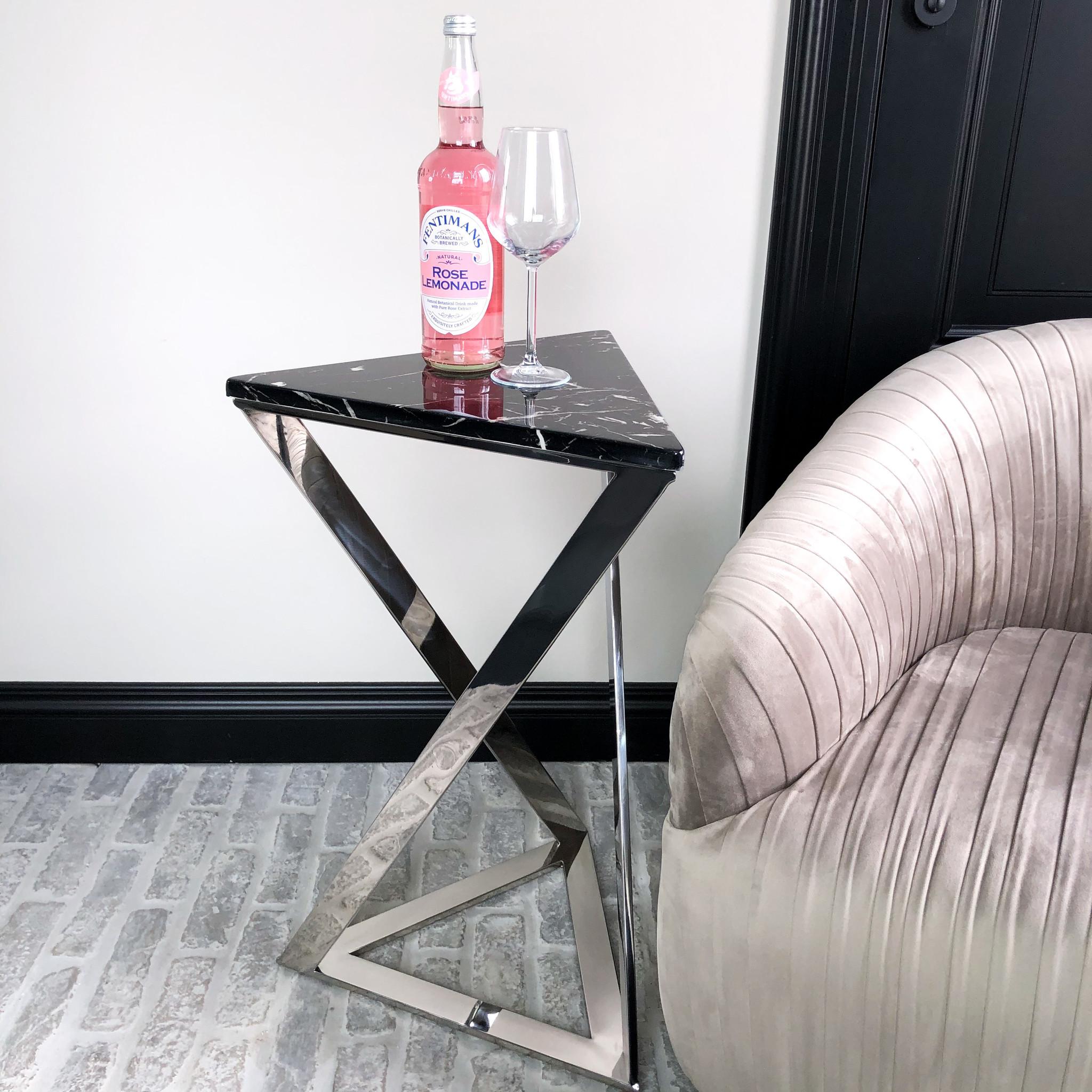 Design Side Table Divani Silver-1