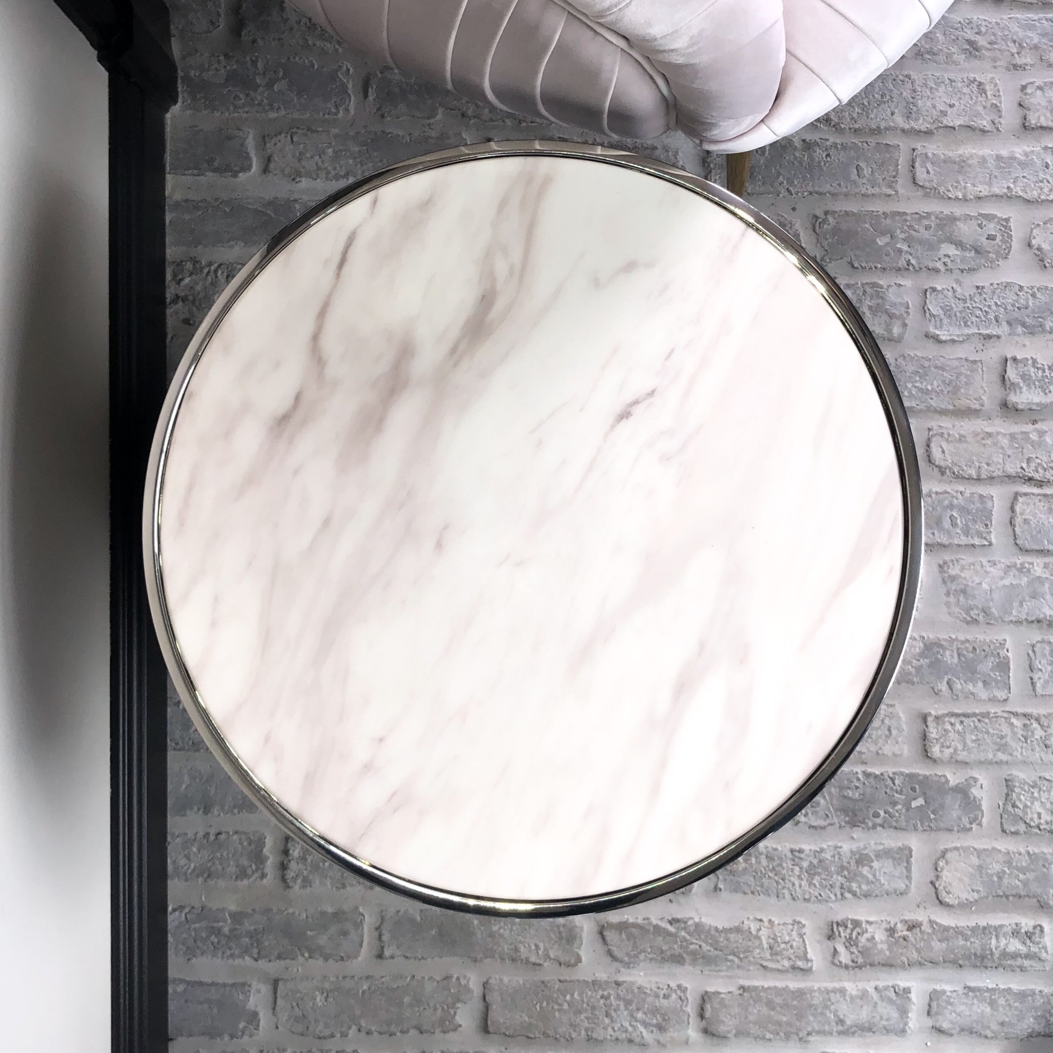 Design Side Table Lunda White Marble-7