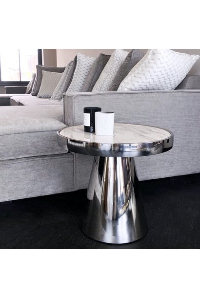 Design Side Table Lunda White Marble