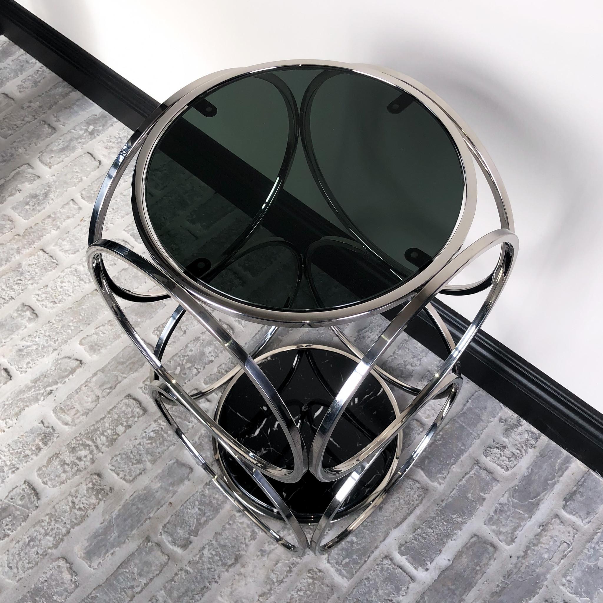 Design Bijzettafel Hutton Zilver-2
