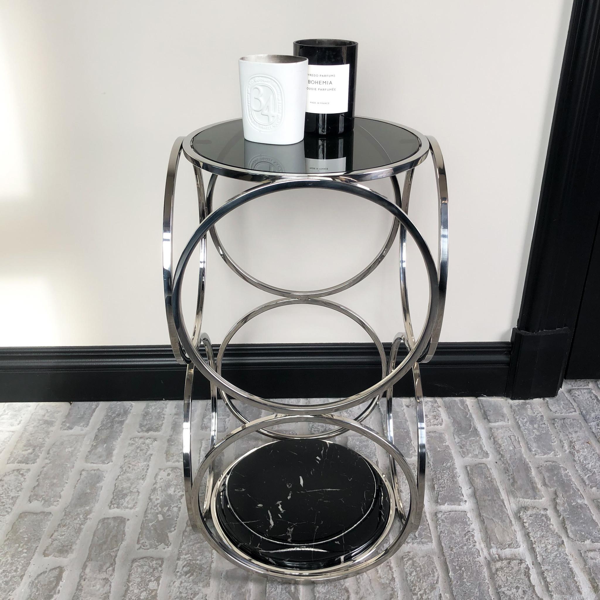 Design Side Table Hutton Silver-3