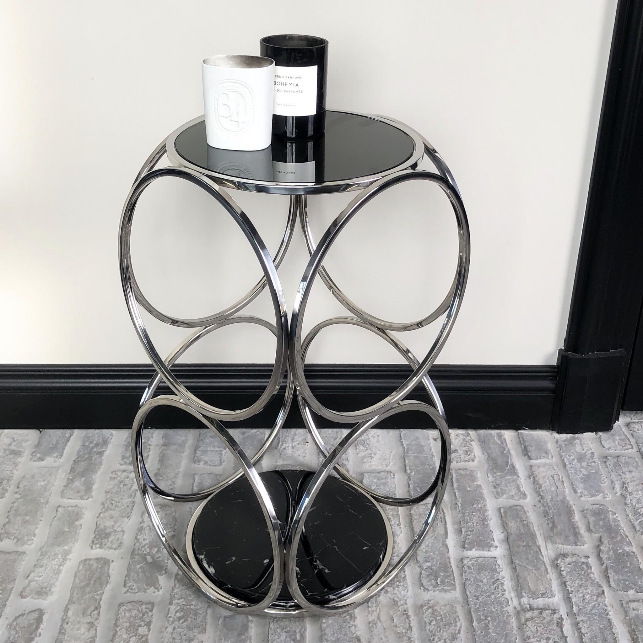 Design Side Table Hutton Silver-1