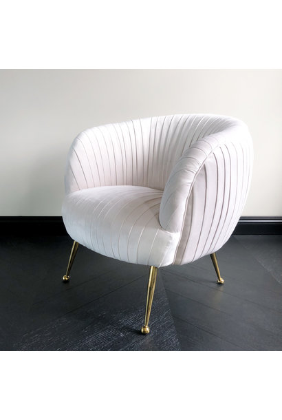 Luxurious Chair Perugia Cloud White Velvet