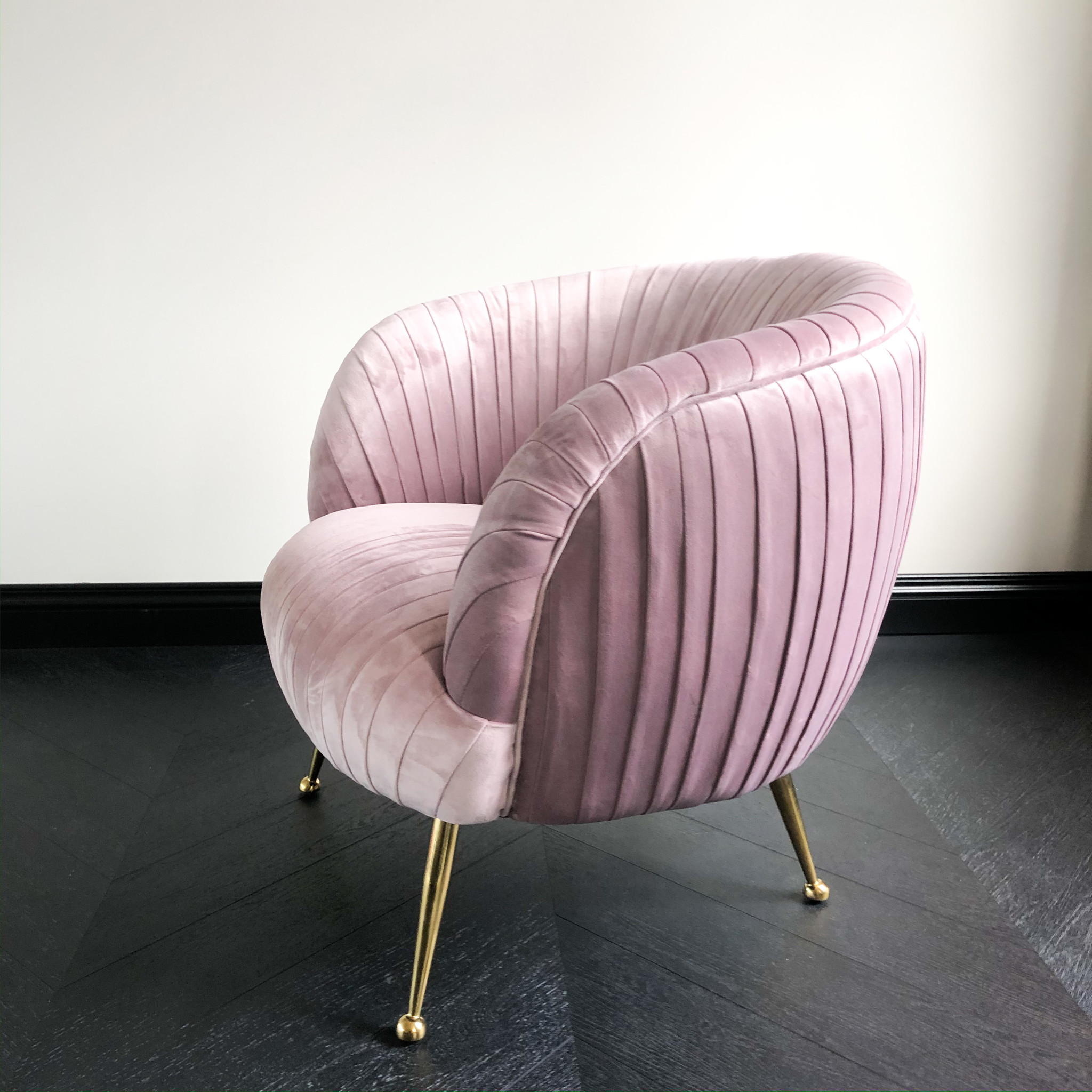 Luxurious Chair Perugia Pink Velvet-3