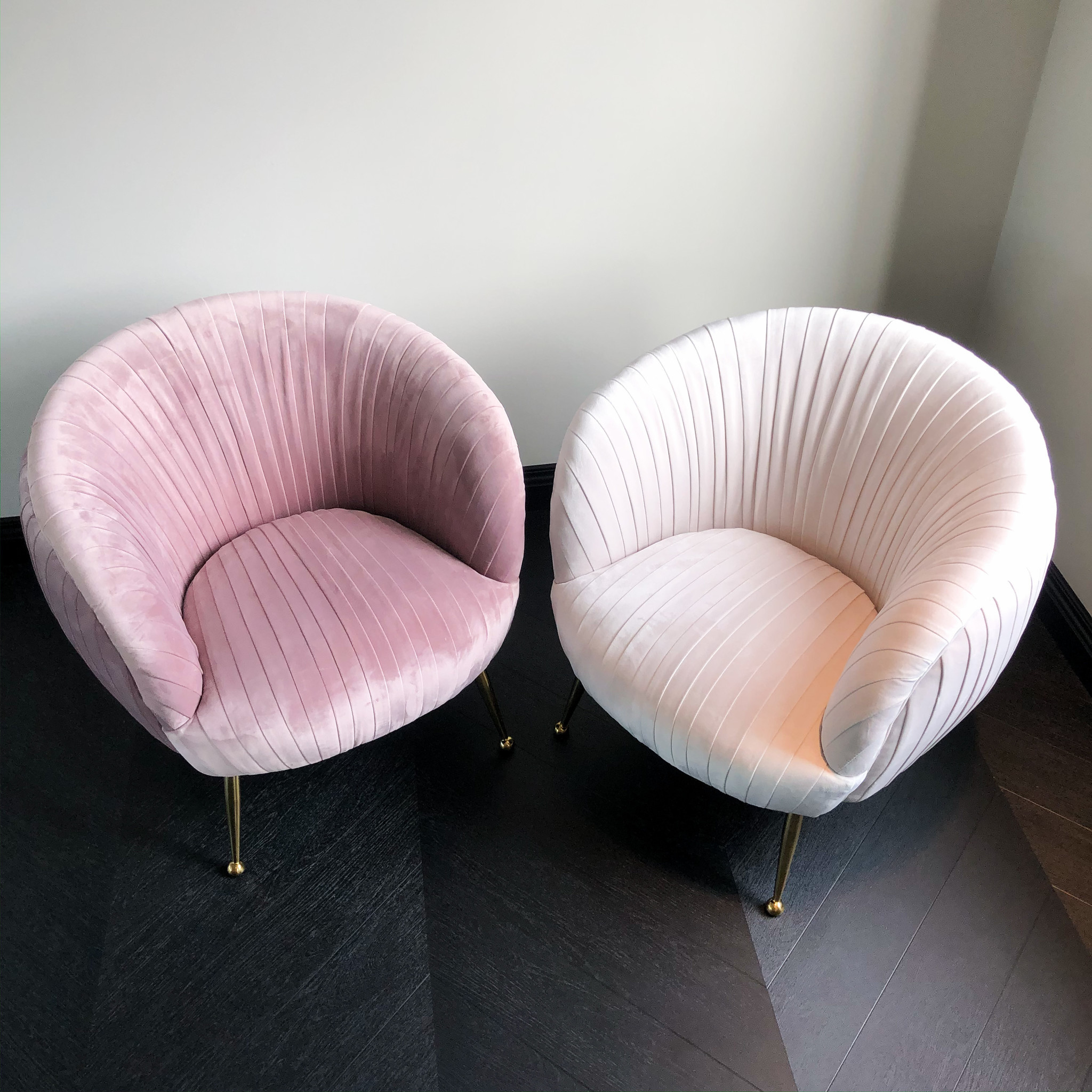 Luxurious Chair Perugia Pink Velvet-7