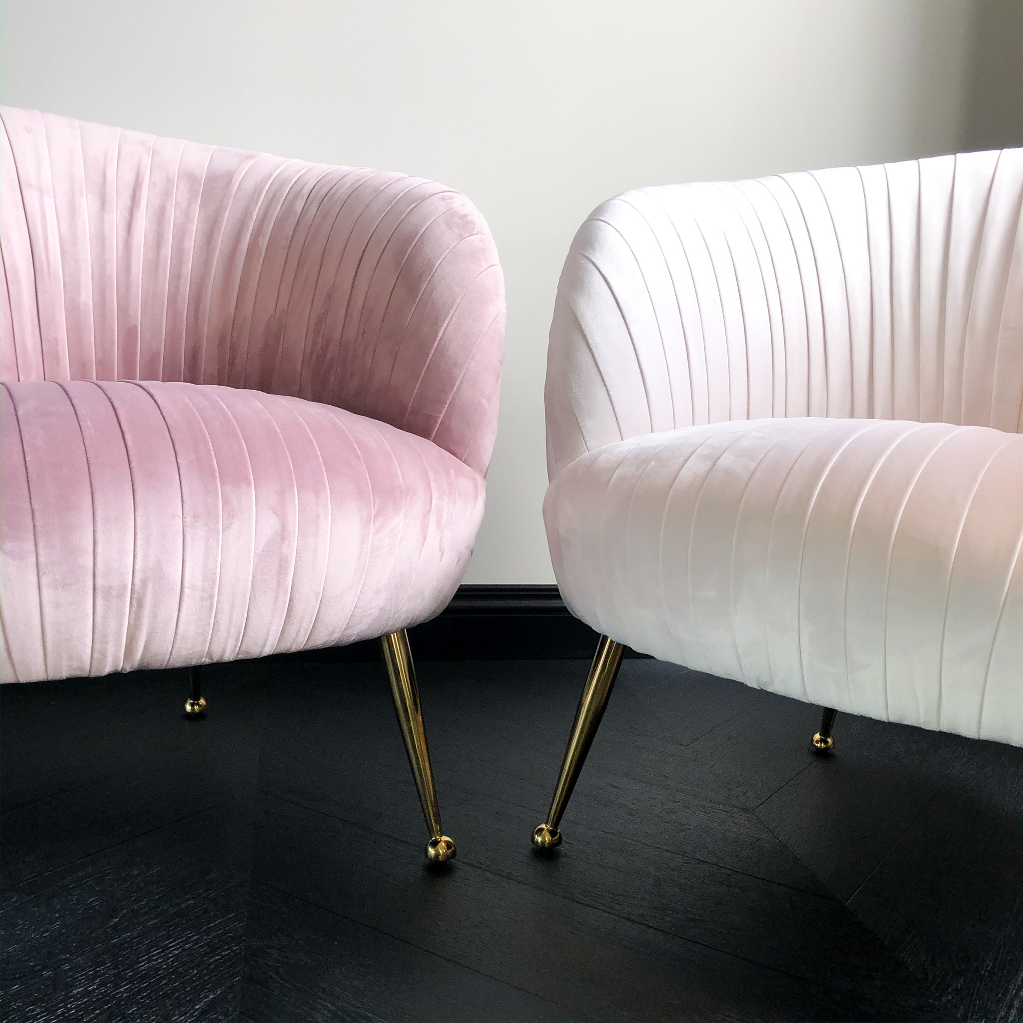 Luxurious Chair Perugia Pink Velvet-8