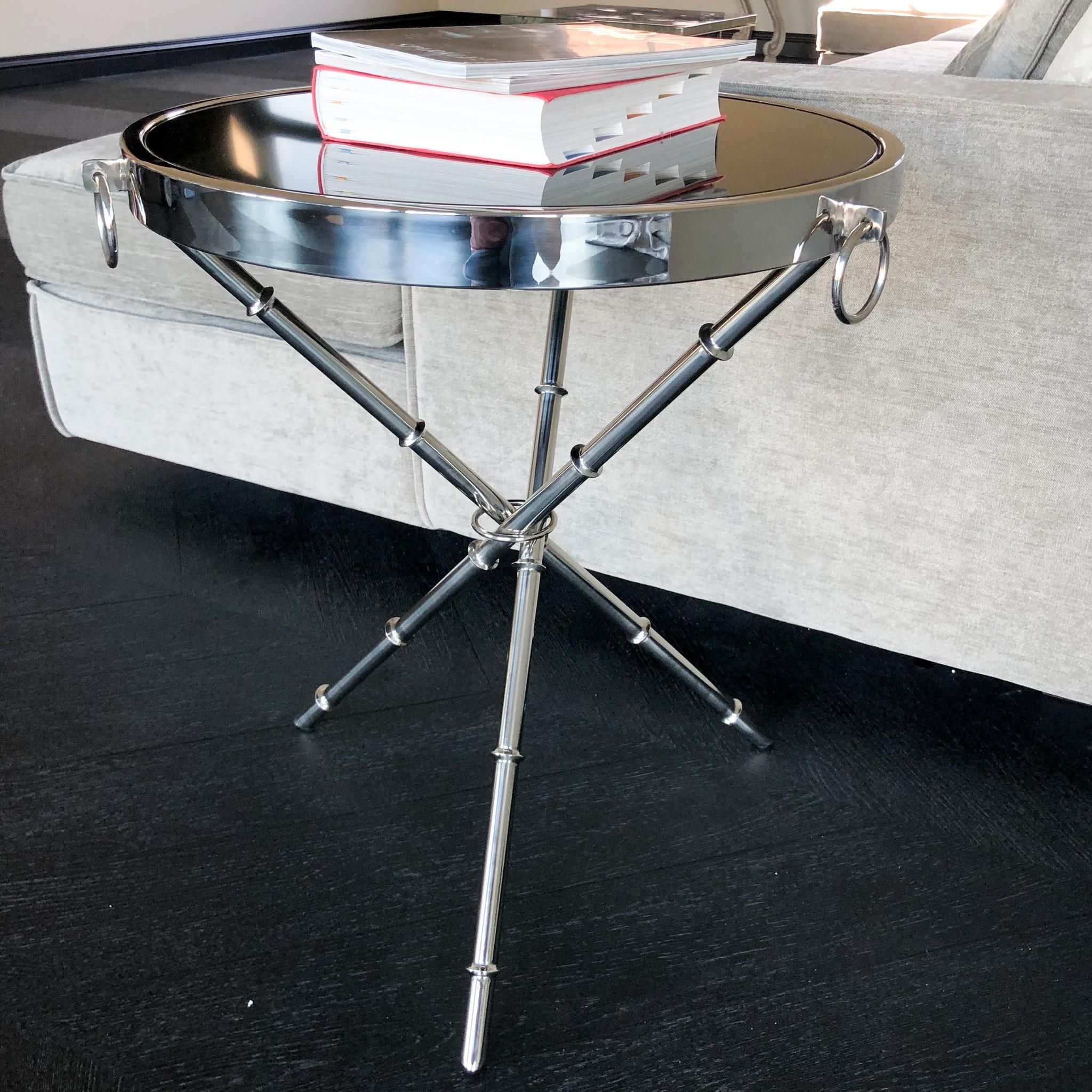 Design Side Table Musa Silver-3