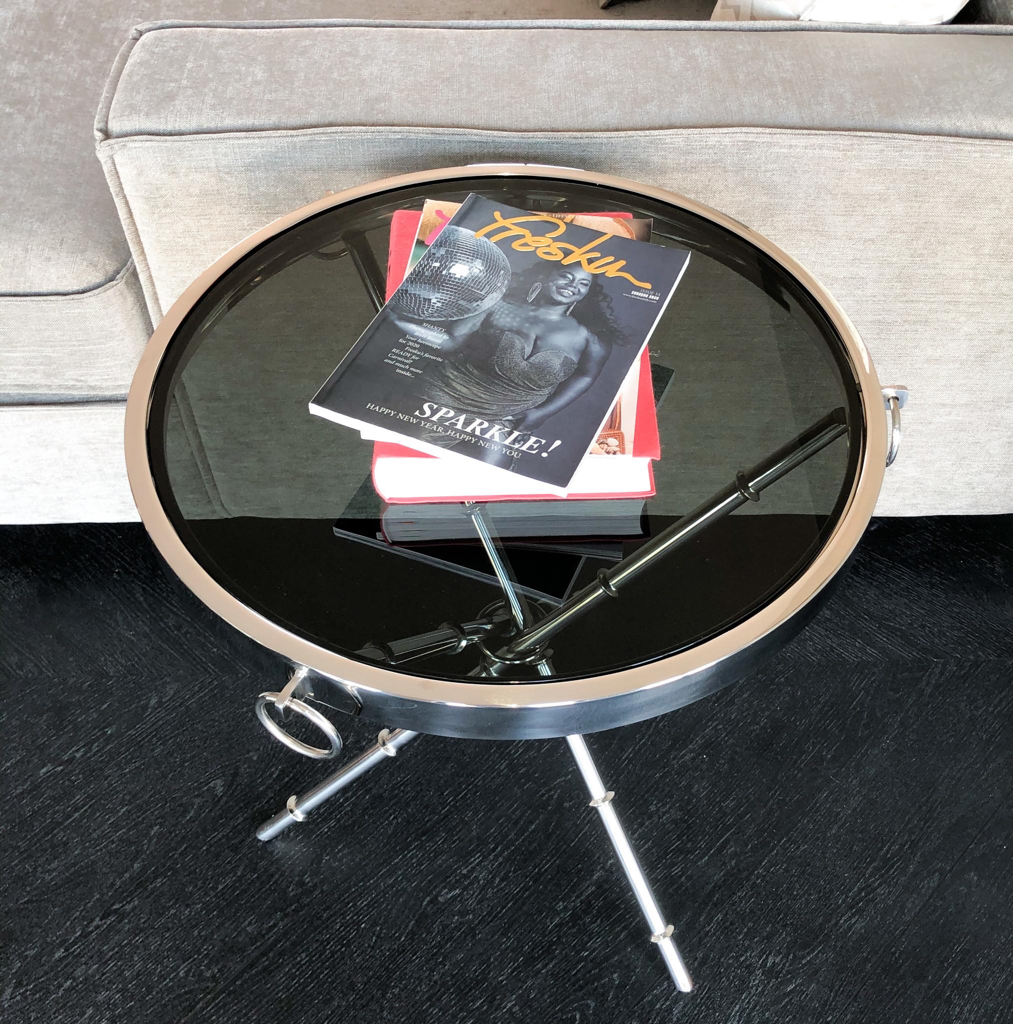 Design Side Table Musa Silver-2