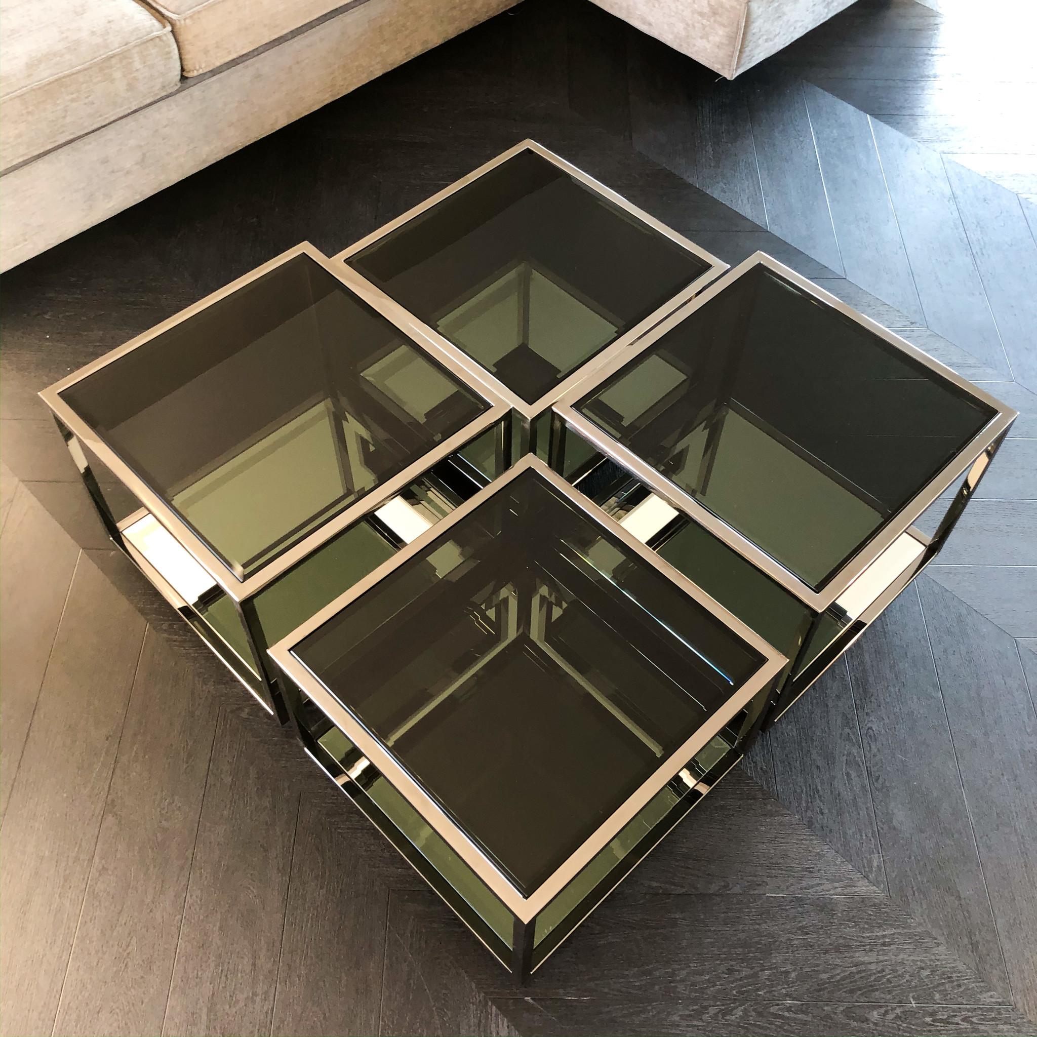 Design Salontafel Luigi Gun Black (set van 4)-3