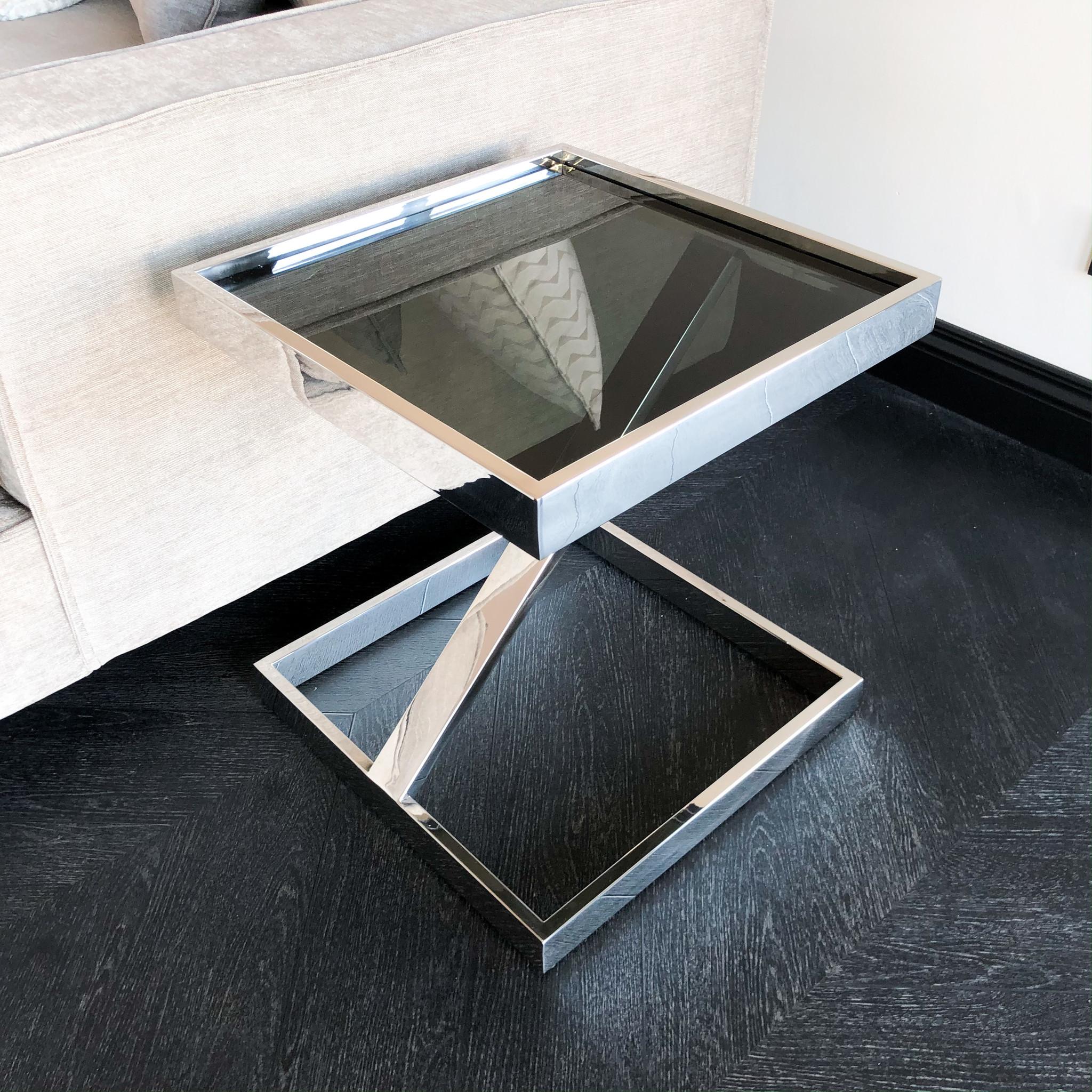 Design Bijzettafel Sala Zilver-1