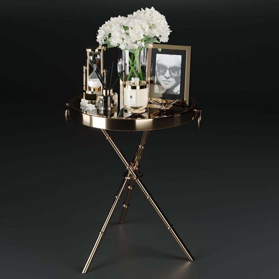 Design Side Table Musa Gold-1