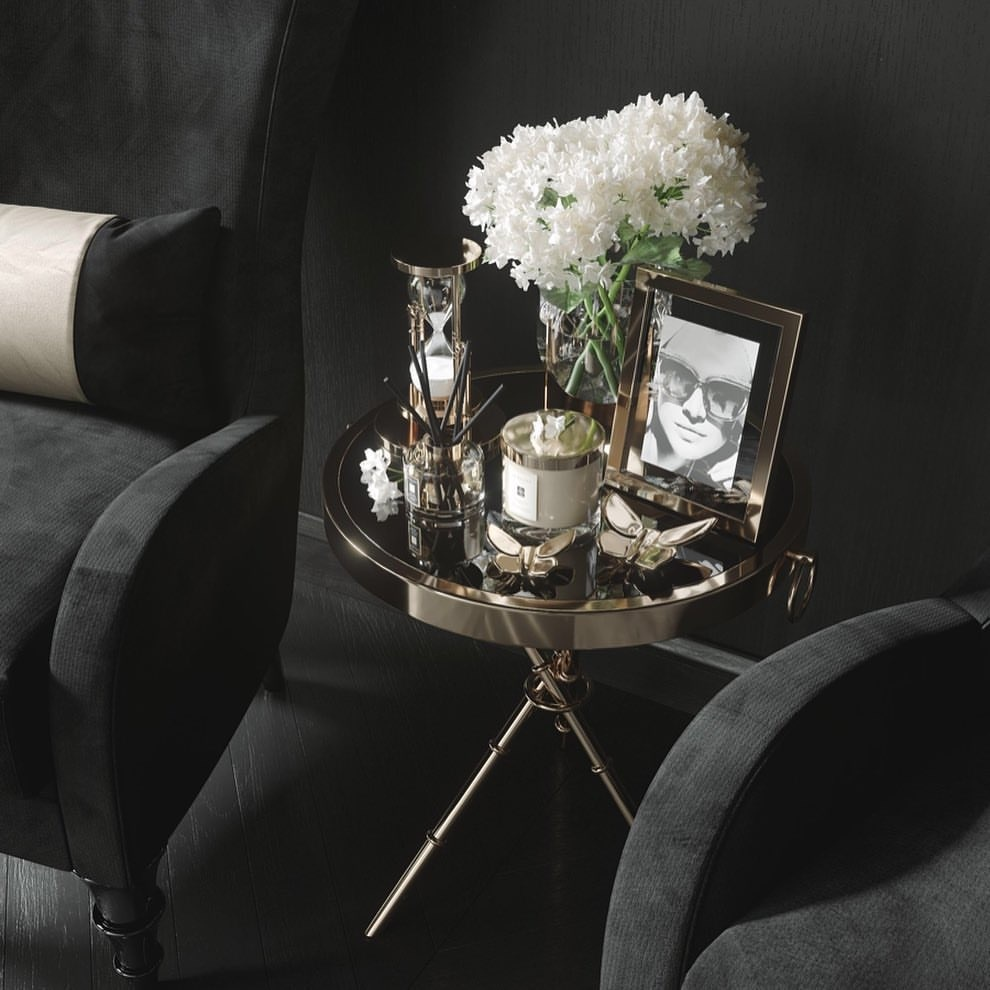 Design Side Table Musa Gold-3