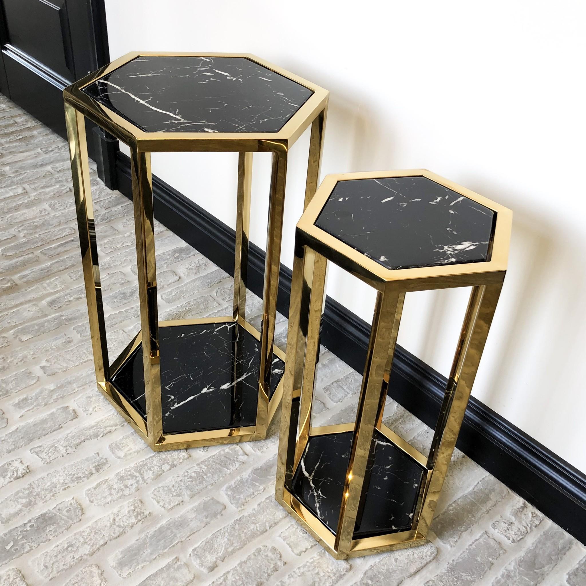 Design Side Table Ravello Gold (Set of 2)-4