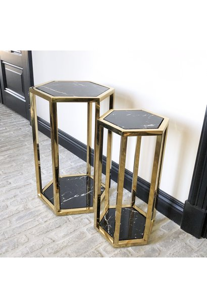 Design Side Table Ravello Gold (Set of 2)