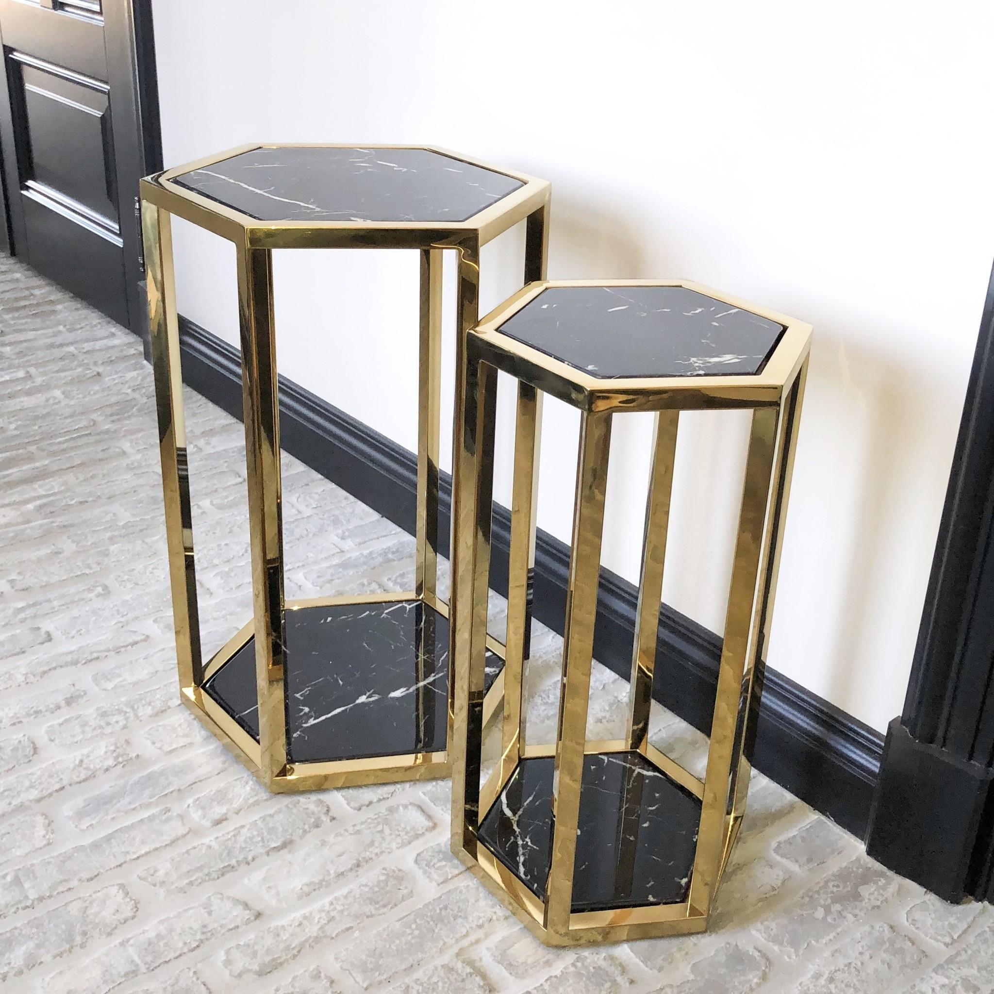 Design Side Table Ravello Gold (Set of 2)-1