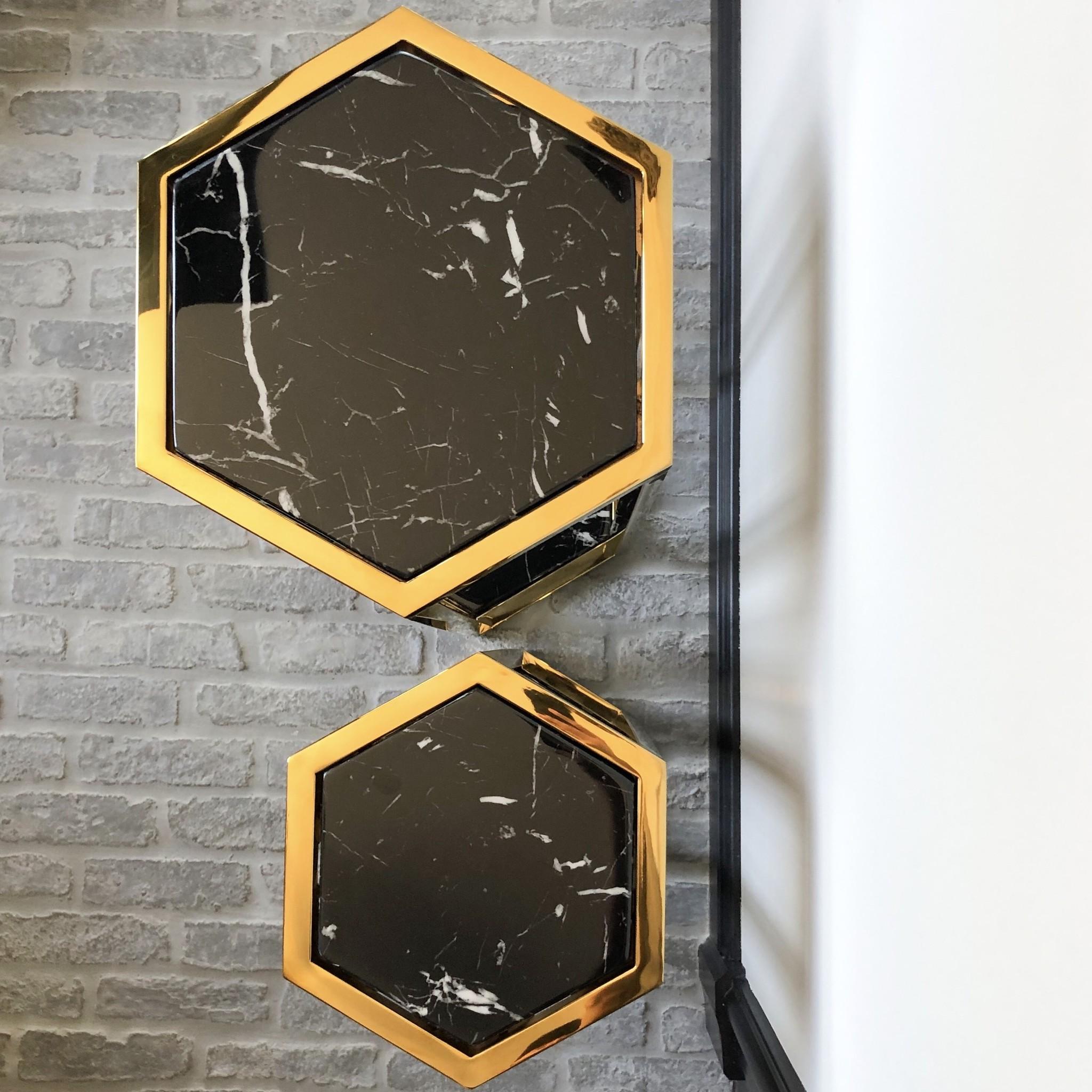 Design Side Table Ravello Gold (Set of 2)-3
