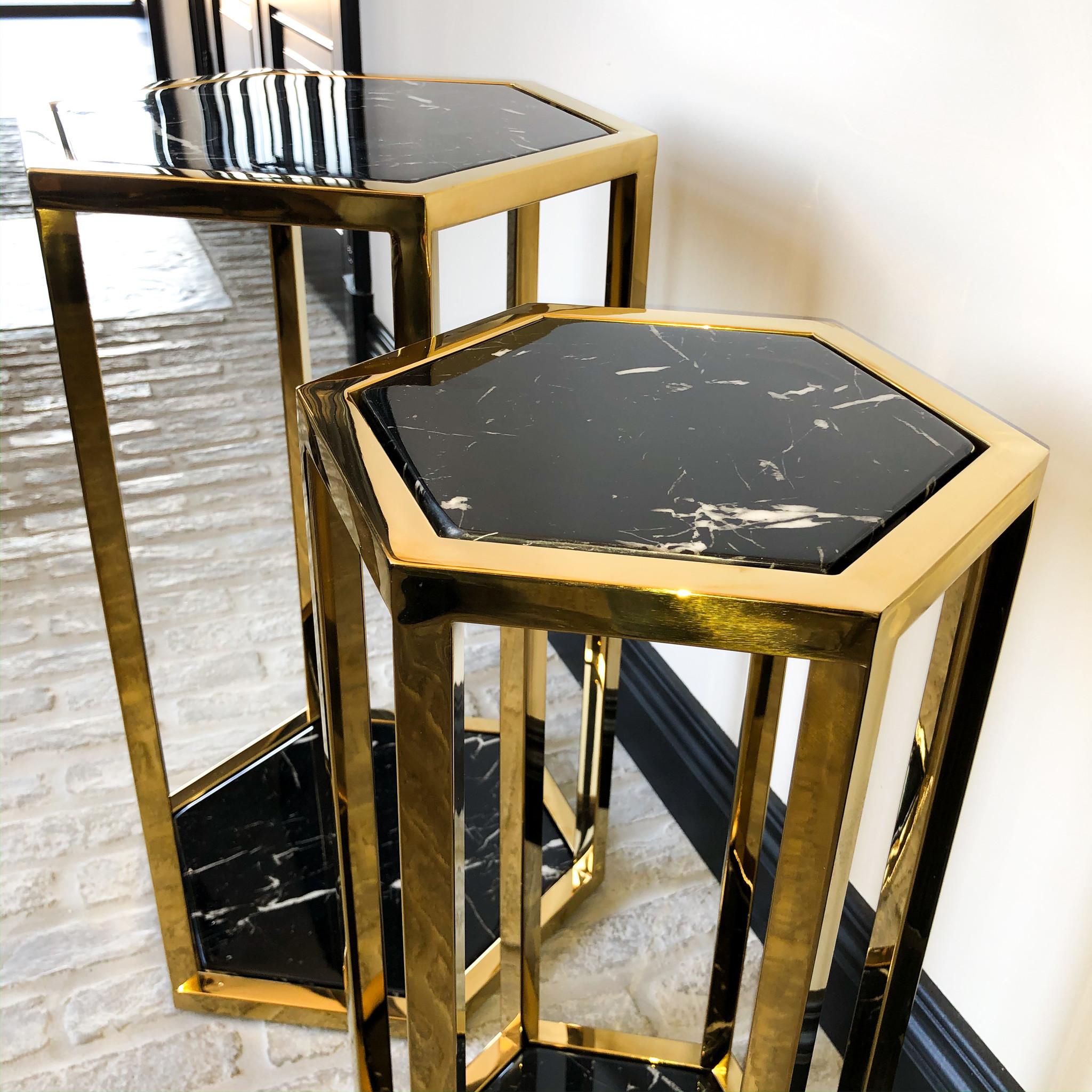 Design Side Table Ravello Gold (Set of 2)-2