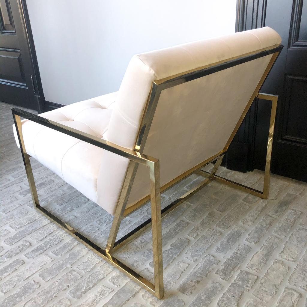 Luxurious Chair Mahora Ivory Velvet-6
