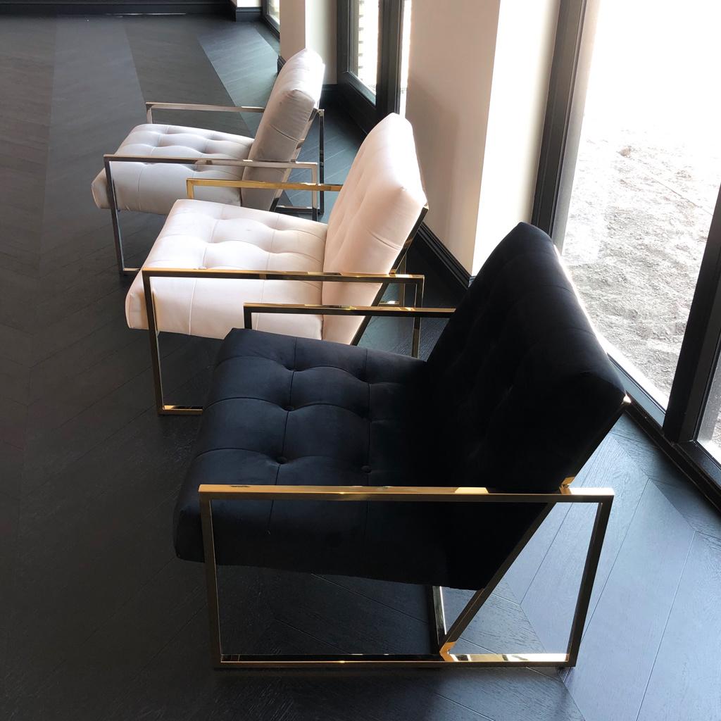 Luxurious Chair Mahora Ivory Velvet-9