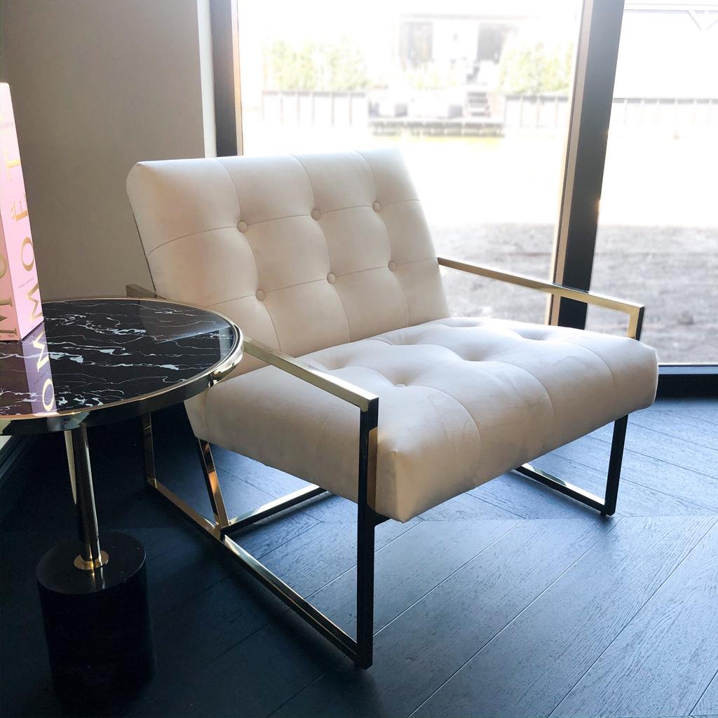 Luxurious Chair Mahora Ivory Velvet-1