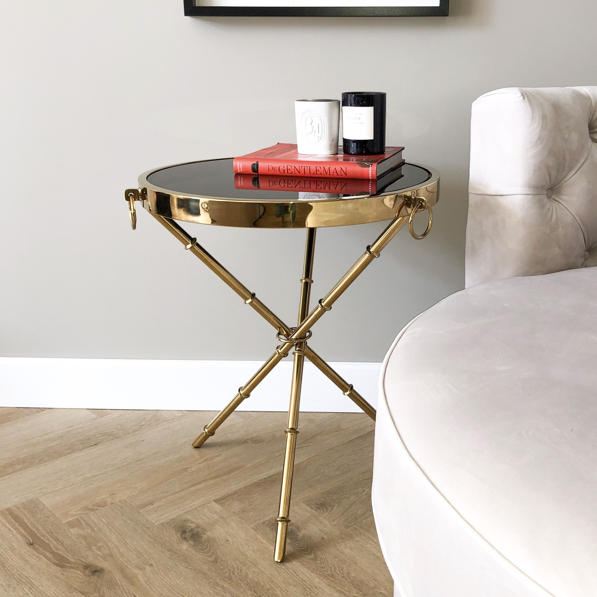 Design Side Table Musa Gold-5