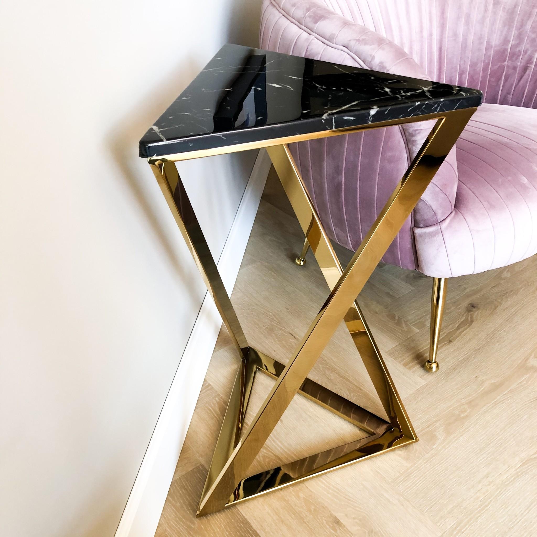 Design Side Table Divani Gold-3