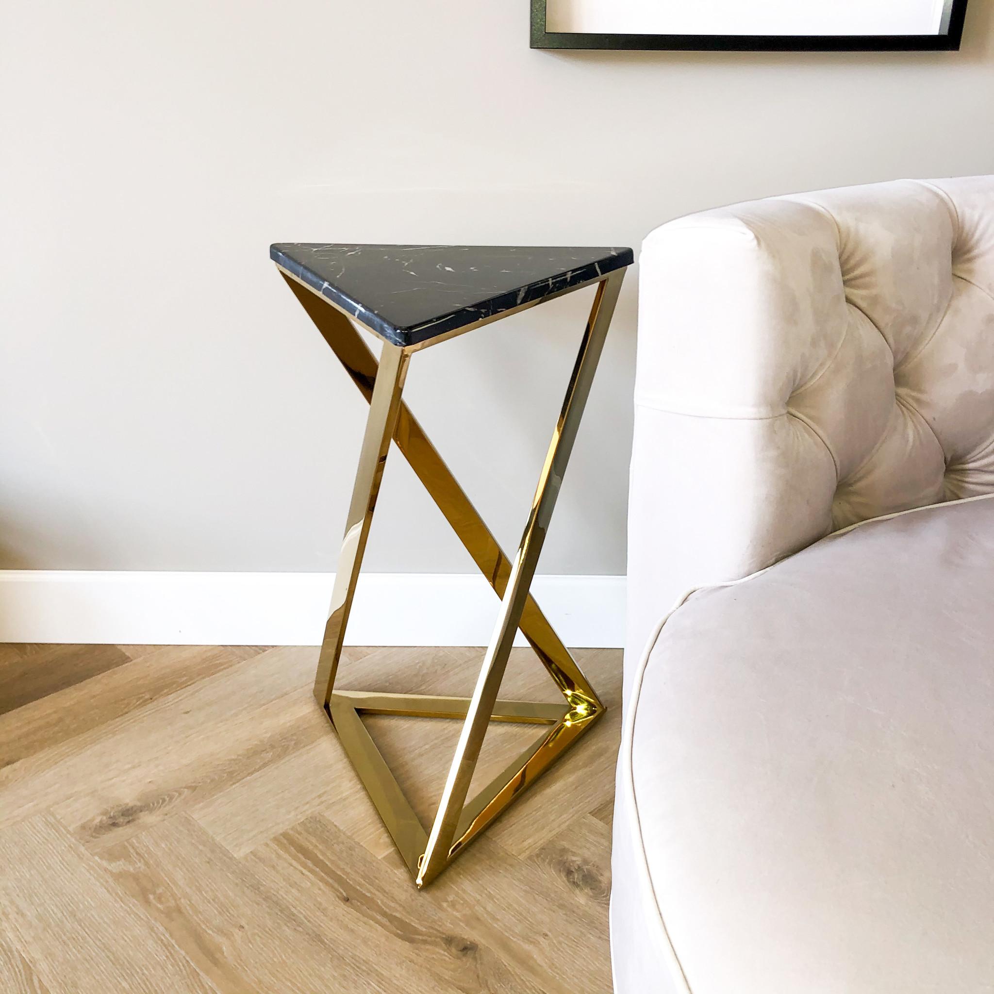 Design Side Table Divani Gold-1