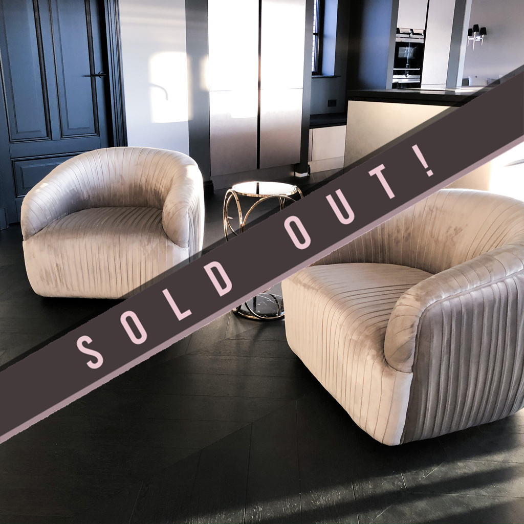 Luxurious Chair Connor Dark Grey Velvet-1