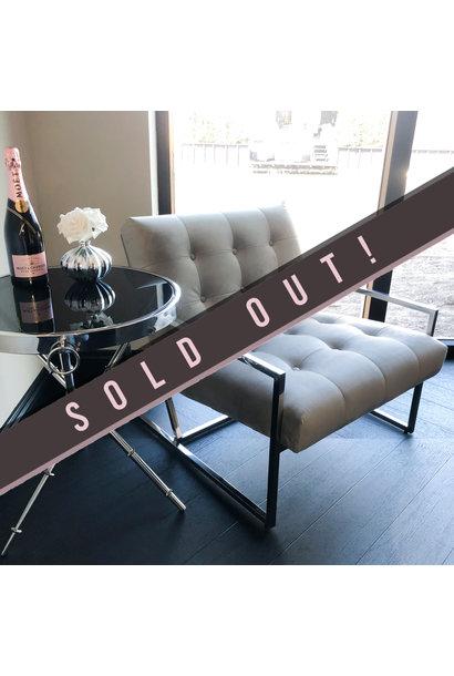 Luxurious Chair Mahora Dark Grey Velvet