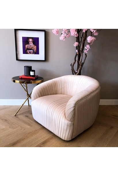 Luxurious Chair Connor Ivory Velvet