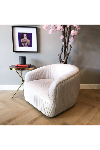 Luxurious Chair Connor Cloud White Velvet
