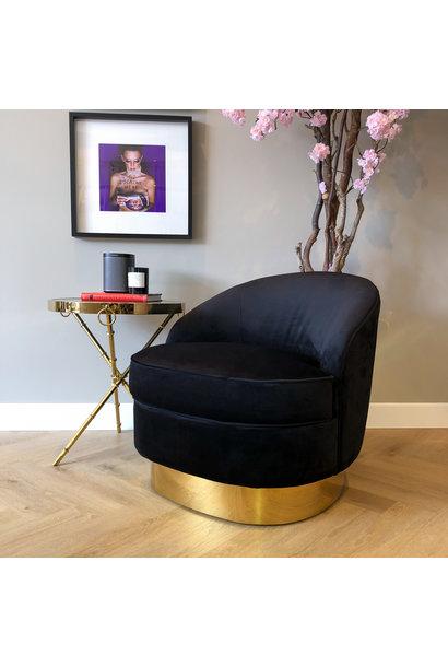 Luxe Velvet Stoel Giardion Zwart