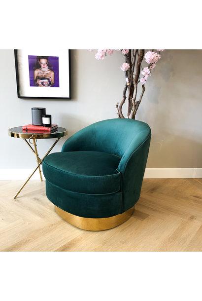 Luxurious Chair Giardion Green Velvet