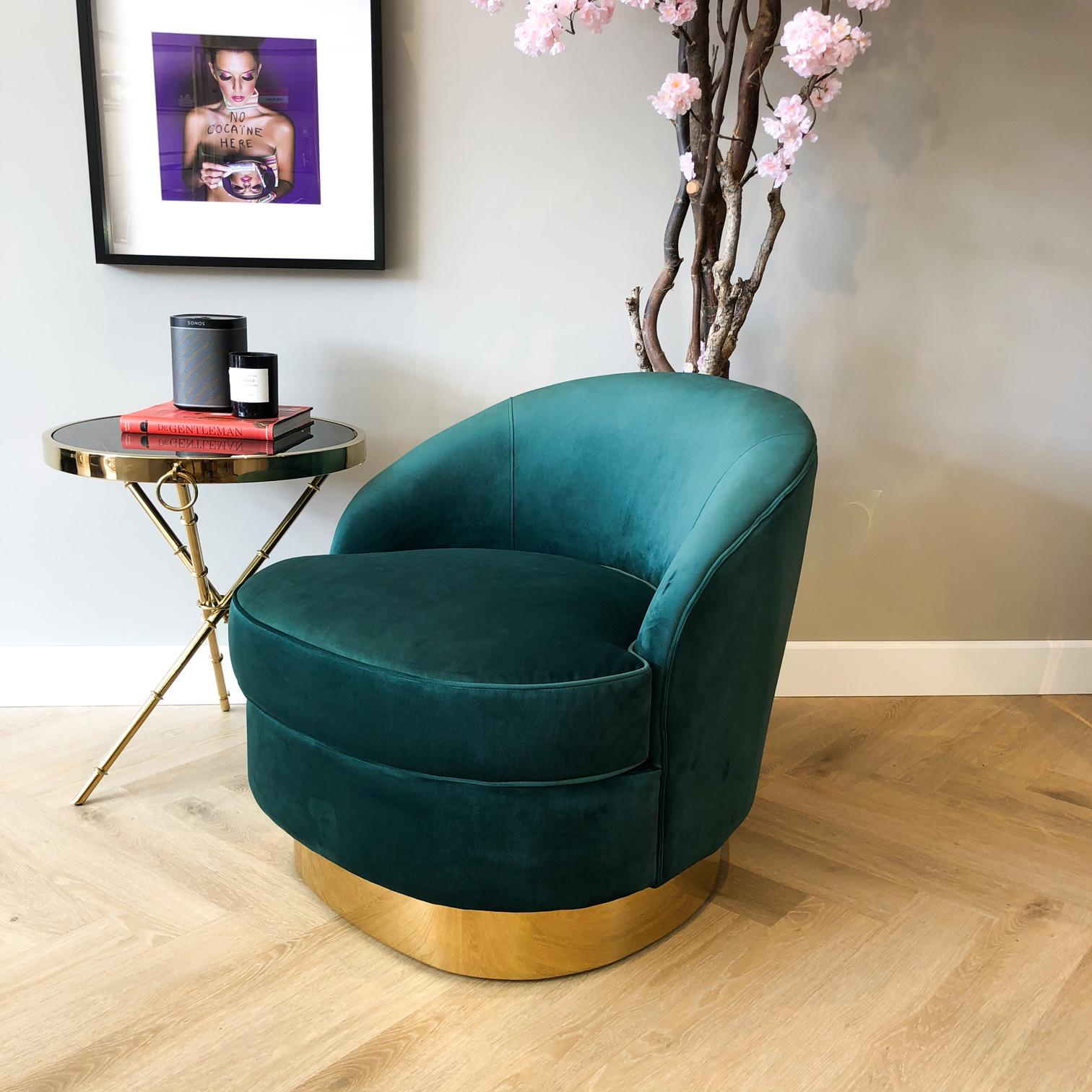 Luxe Velvet Stoel Giardion Groen-1