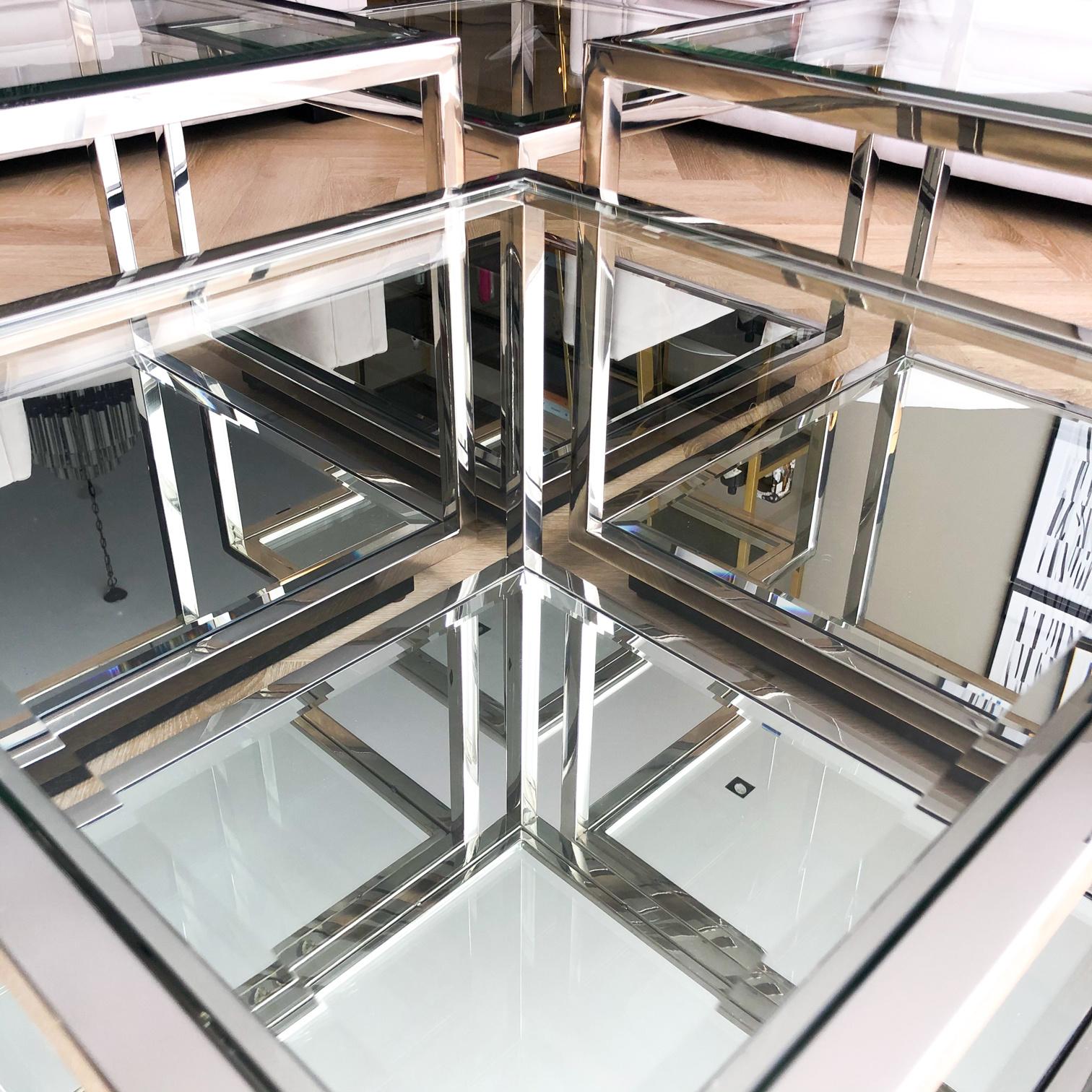 Design Salontafel Luigi Zilver (set van 4)-7