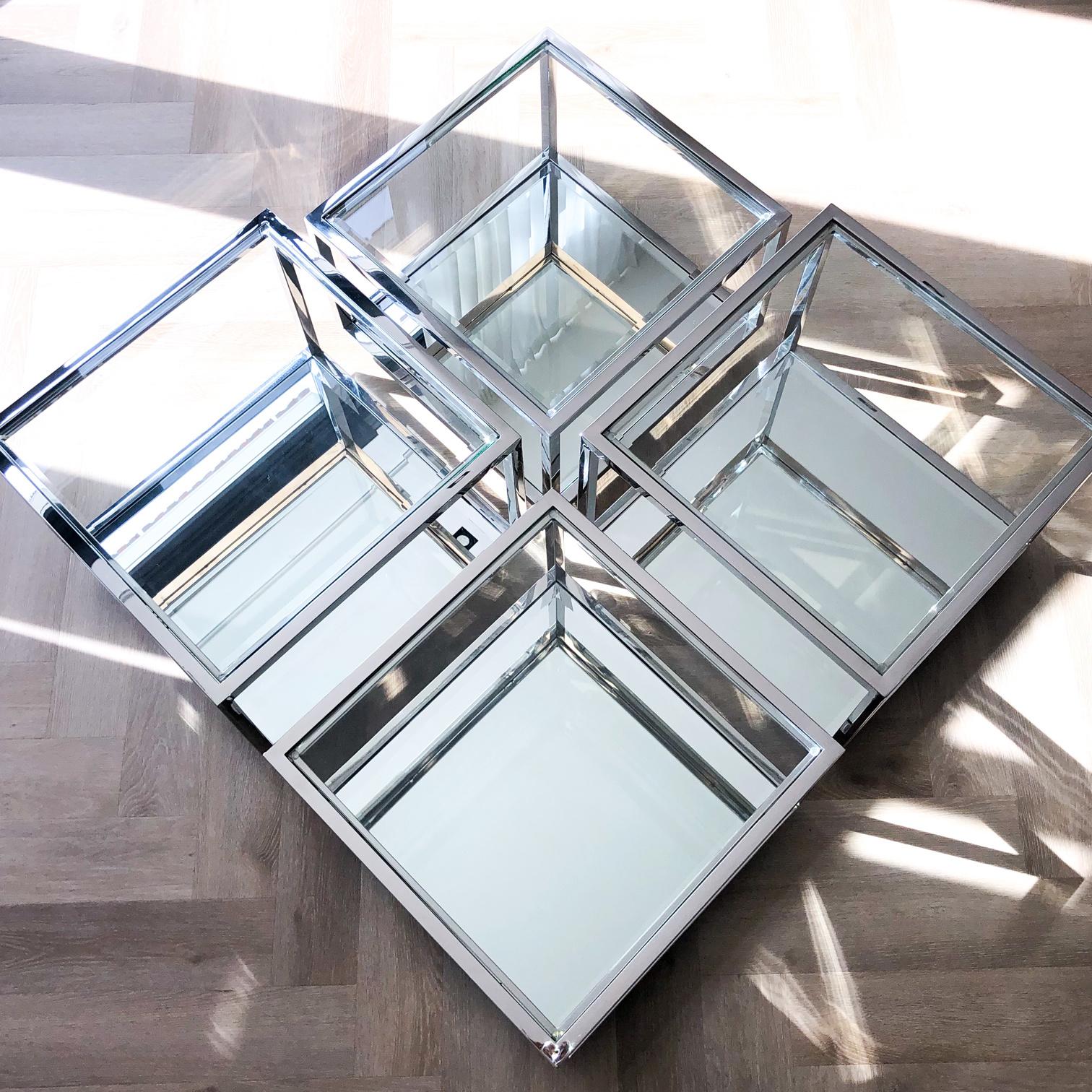 Design Salontafel Luigi Zilver (set van 4)-6