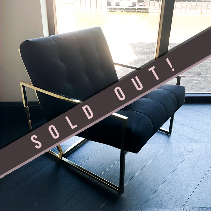 Luxurious Chair Mahora Black Velvet-2