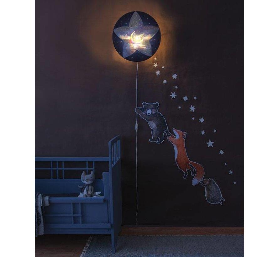 Hartendief Wandlamp - Slaap zacht, Kleine Ster...