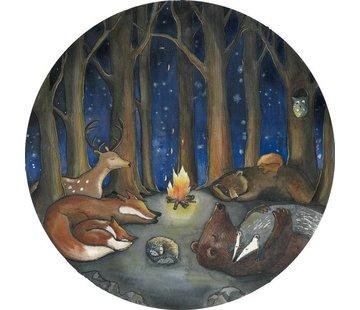 Hartendief Dieren in het Bos behang