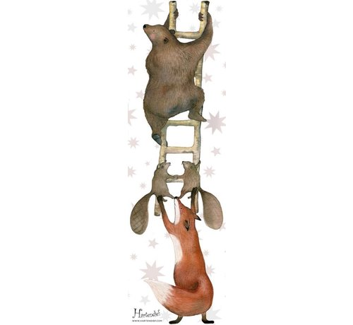 Hartendief Dieren op de ladder Muursticker