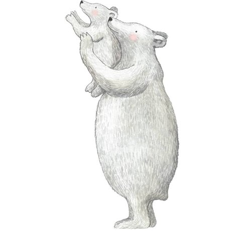 Hartendief IJsberen Muursticker