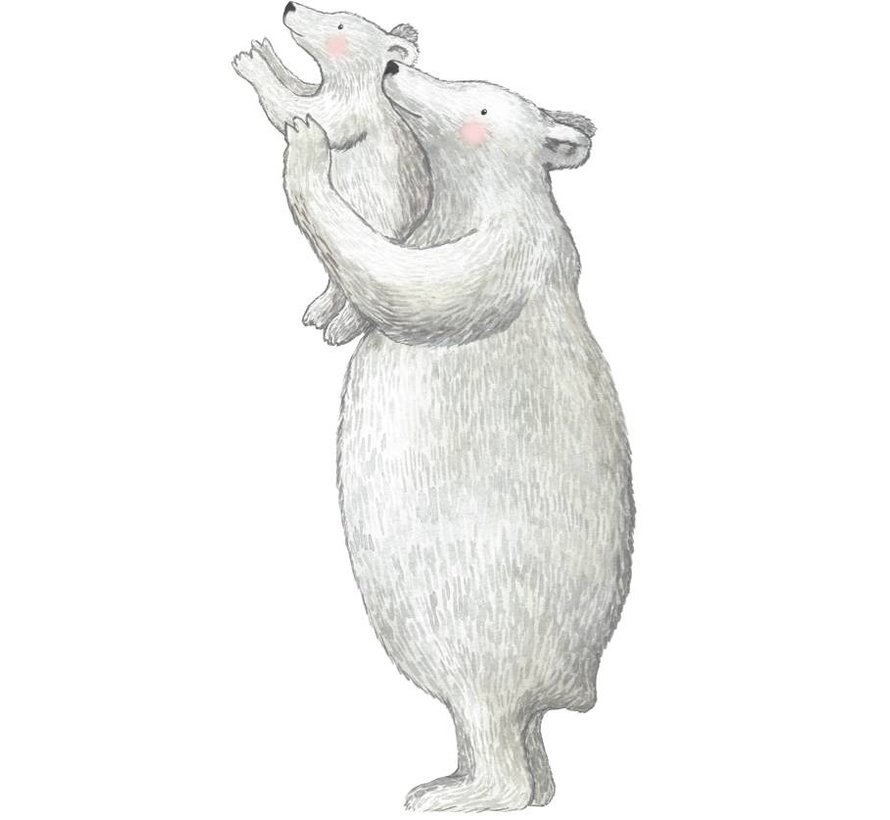 IJsberen Muursticker