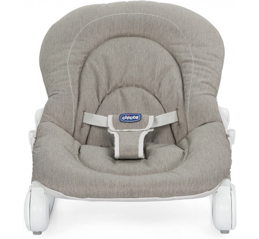 ligstoel junior 62 x 60 cm textiel grijs 3-delig
