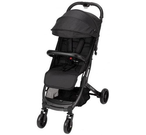 Interbaby kinderwagen Silla 84 x 99 cm polyester zwart/grijs