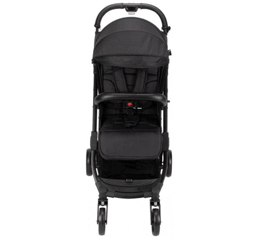 kinderwagen Silla 84 x 99 cm polyester zwart/grijs