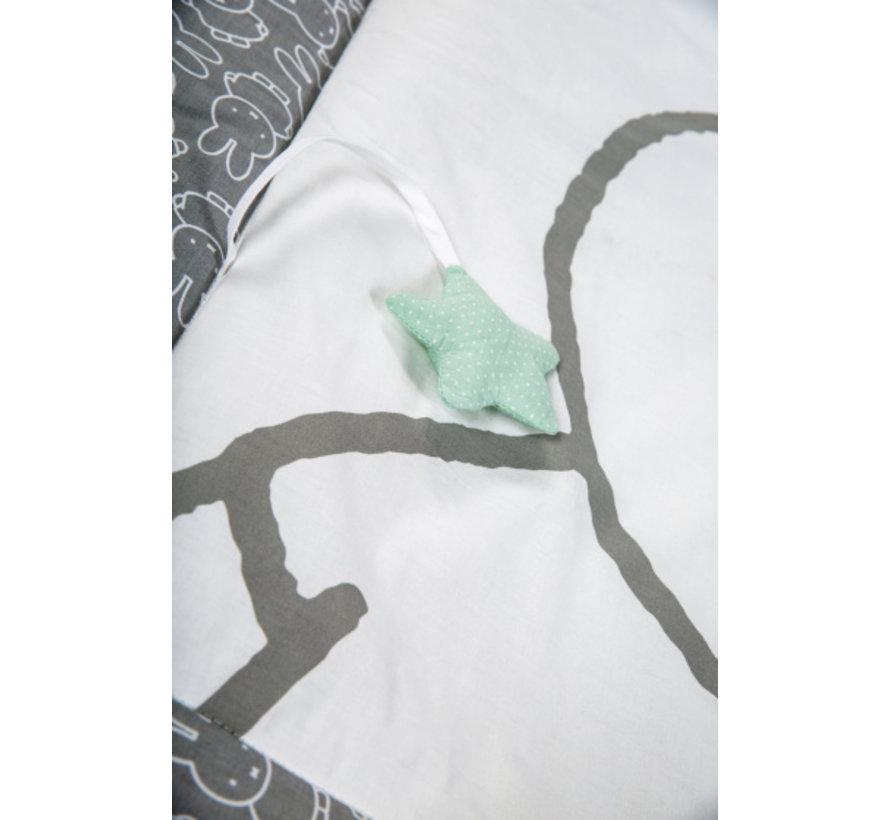 speelkleed Nijntje junior 100 x 100 cm katoen grijs/wit