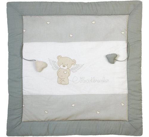 Roba speelkleed Heartbreaker junior 100 x 100 cm katoen grijs
